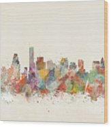 Boston City Wood Print