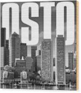 Boston Cityscape Wood Print