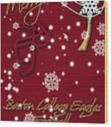 Boston College Eagles Christmas Card Wood Print
