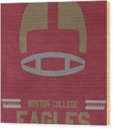 Boston College Eagles Vintage Football Art Wood Print