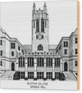 Boston College Wood Print