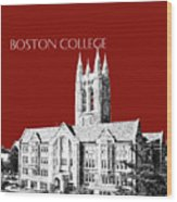 Boston College - Maroon Wood Print