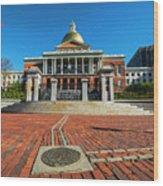 Boston Freedom Trail To State House Boston Ma Wood Print