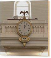 Boston Historical Meeting Room Clock Wood Print