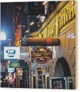 Boston Ma North End Cigar Shop Wood Print
