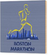 Boston Marathon5 Wood Print