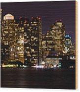 Boston Massachusetts - Panoramic Wood Print