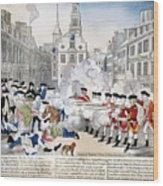Boston Massacre, 1770 Wood Print