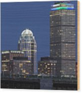 Boston Prudential Center Celebrating 100th Anniversary Of Shaw Market Wood Print by Juergen Roth