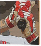 Boston Red Sox Original Typography Baseball Team  Wood Print