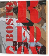 Boston Red Sox Original Typography  Wood Print