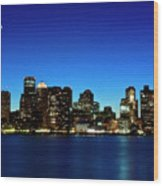 Boston Skyline Wood Print by By Eric Lorentzen-Newberg
