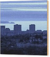 Boston Skyline From Quincy Wood Print