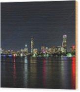 Boston Skyline  Wood Print