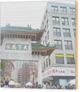 Boston's Chinatown  Wood Print