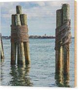 Boston's Harbor Wood Print
