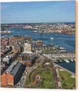 Boston's North End Wood Print
