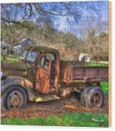 Boswell 1947 Dump Truck Farm Scene Wood Print