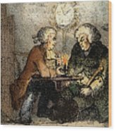 Boswell And Johnson, 1786 Wood Print