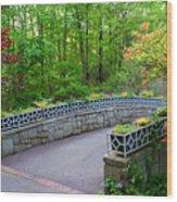 Botanical Bridge Wood Print