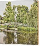 Botanical Bridge - Van Gogh Wood Print