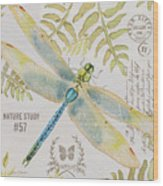 Botanical Dragonfly-jp3418b Wood Print