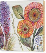 Botanical Flower-49 Wood Print