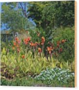 Botanical Garden Wood Print