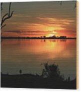 Botswanna Sunset Wood Print