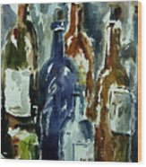 Bottle In A Dusty Cellar Wood Print