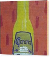 Bottle Of Corona Light Wood Print