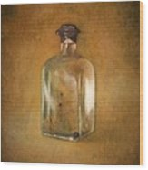 Bottle Of Light Wood Print