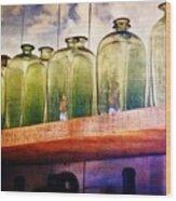 Bottle Row Wood Print