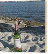 Bottled Beach Wood Print