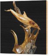 Bottlenose Dolphin Wood Print by Kjell Vistnes