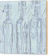 Bottles 2 Wood Print