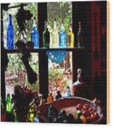 Bottles And Shadows Wood Print