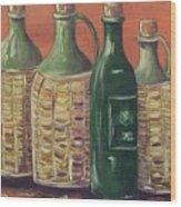 Bottles Wood Print