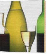 Bottles Of Variety Vine Wood Print