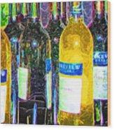 Bottles Of Wine Wood Print