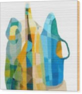 Bottles Still Life Wood Print by Carola Ann-Margret Forsberg