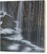 Bottom Of A Waterfall #3 Wood Print