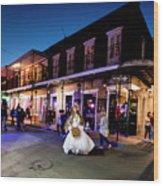 Boubon Bride - New Orleans Wood Print