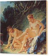 Boucher: Diana Bathing Wood Print