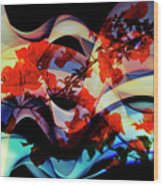 Bougainvillea At Joe's Secret Garden IIi Wood Print
