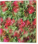 Bougainvillea Repeating Pattern Abstract I Wood Print