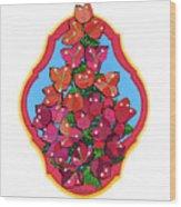 Bougainvillea Too Wood Print