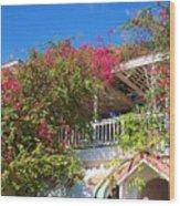 Bougainvillea Villa Wood Print