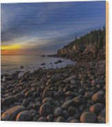 Boulder Beach Sunrise Wood Print
