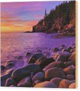 Boulder Beach Sunrise Wood Print